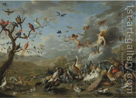 An Allegory Of Air 2 by Jan van Kessel - Reproduction Oil Painting