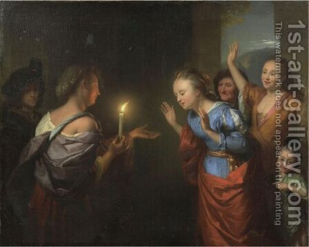 The Parable Of The Lost Piece Of Silver by Godfried Schalcken - Reproduction Oil Painting