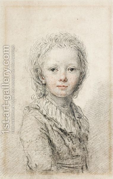 Portrait Of A Young Boy, Thought To Be The Dauphin, Later Louis XVII by (after) Augustin De Saint-Aubin - Reproduction Oil Painting