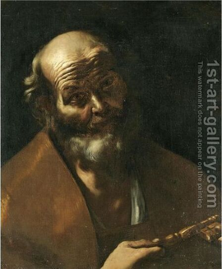 Saint Peter by Gregorio Preti - Reproduction Oil Painting