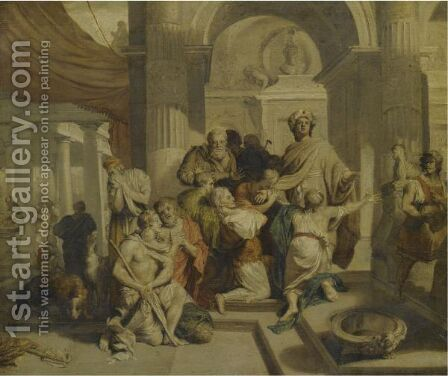 Joseph Receiving His Brothers by (after) Antoine Coypel - Reproduction Oil Painting