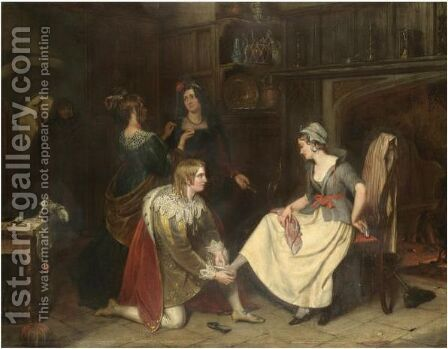 Cinderella by Charles Landseer - Reproduction Oil Painting