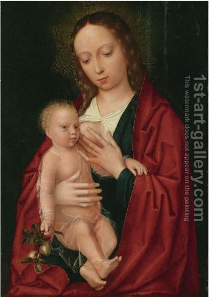 Oudewater Near Gouda Circa 1460 - 1523 Brugesmadonna And Child by (after) Gerard David - Reproduction Oil Painting