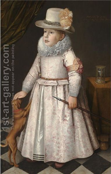 Portrait Of A Boy by Dutch School - Reproduction Oil Painting