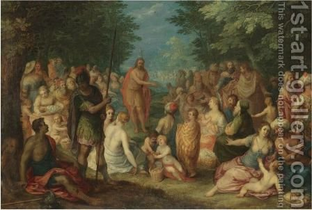 The Preaching Of St John The Baptist by Hendrik van Balen, I - Reproduction Oil Painting