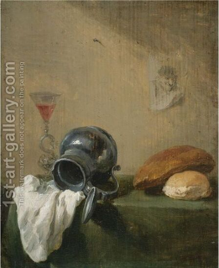 Still Life Of An Overturned Jug by David The Younger Teniers - Reproduction Oil Painting