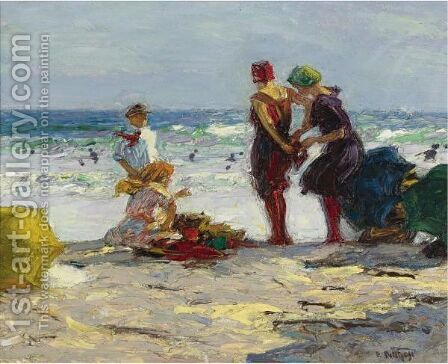The Bathers 3 by Edward Henry Potthast - Reproduction Oil Painting