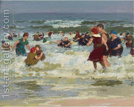 At The Beach 2 by Edward Henry Potthast - Reproduction Oil Painting