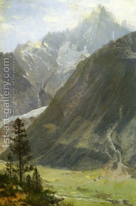 Mountain Landscape 2 by Albert Bierstadt - Reproduction Oil Painting