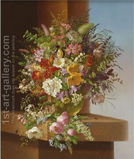 Vase Of Flowers by Adelheid Dietrich - Reproduction Oil Painting