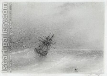 High Seas 2 by Ivan Konstantinovich Aivazovsky - Reproduction Oil Painting