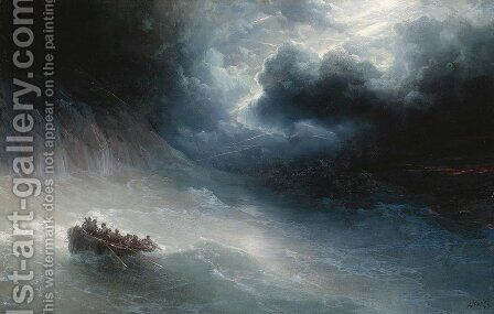 The Wrath Of The Seas by Ivan Konstantinovich Aivazovsky - Reproduction Oil Painting