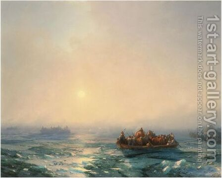 Ice On The Dniepr by Ivan Konstantinovich Aivazovsky - Reproduction Oil Painting