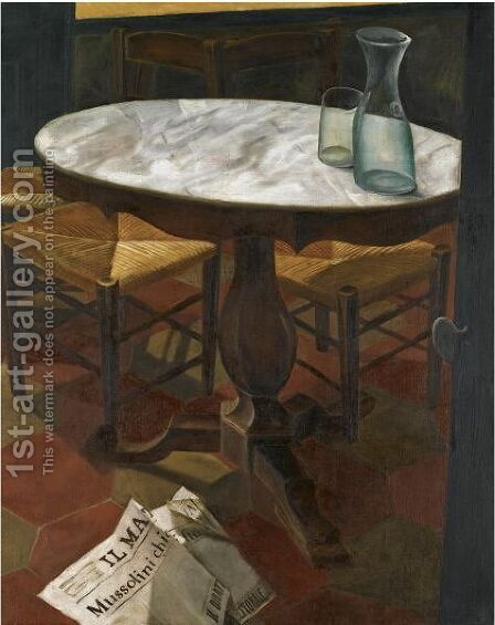 Still Life With Table by Alexander Evgenievich Yakovlev - Reproduction Oil Painting