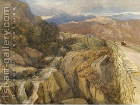 Bridge Over The Llugwy, Near Capel Curig by David Cox - Reproduction Oil Painting