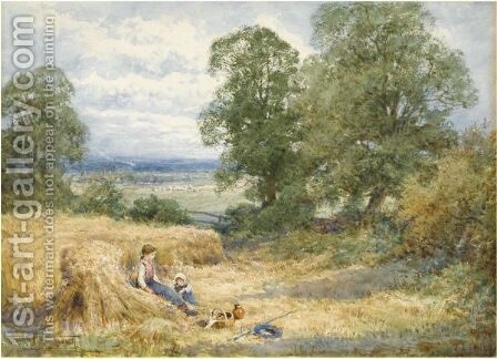 Harvest Time, Pulloxhill, Bedfordshire by Henry John Sylvester Stannard - Reproduction Oil Painting
