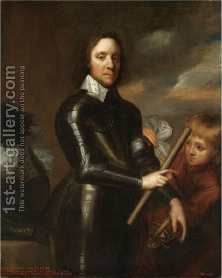 Portrait Of Oliver Cromwell (1599-1658) by (after) Robert Walker - Reproduction Oil Painting