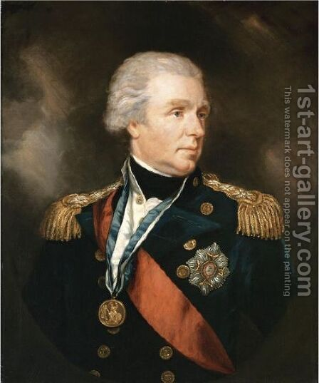 Portrait Of Admiral William Waldegrave, 1st Baron Radstock (1753-1825) by James Northcote, R.A. - Reproduction Oil Painting