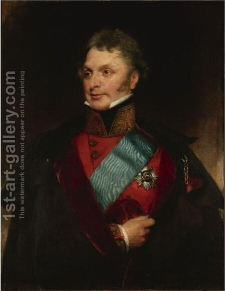 Portrait Of Major General Sir Henry Wheatley, Bt, C.B., G.C.H. (1777-1852) by Henry William Pickersgill - Reproduction Oil Painting