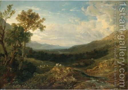 The Valley Of The Clyde by Anthony Vandyke Copley Fielding - Reproduction Oil Painting