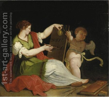 Allegoria Delle Arti by Italian School - Reproduction Oil Painting