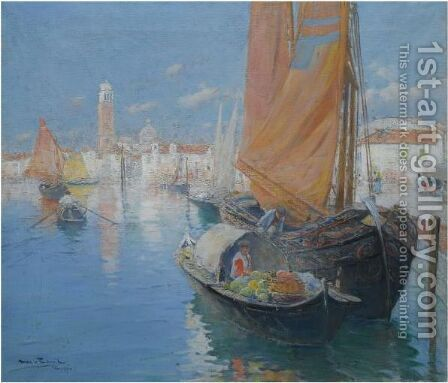 Venecia (Venice) by Arcadio Mas Y Fondevila - Reproduction Oil Painting