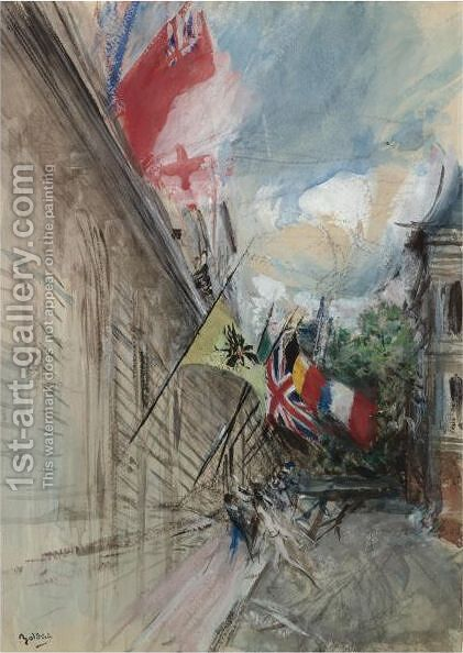 Paris, 14 July by Giovanni Boldini - Reproduction Oil Painting