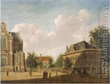 The Westerhal Near The Westerkerk In Amsterdam by Jan the Elder Ekels - Reproduction Oil Painting