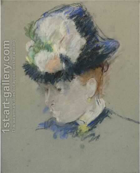 Tete D'Anglaise by Berthe Morisot - Reproduction Oil Painting