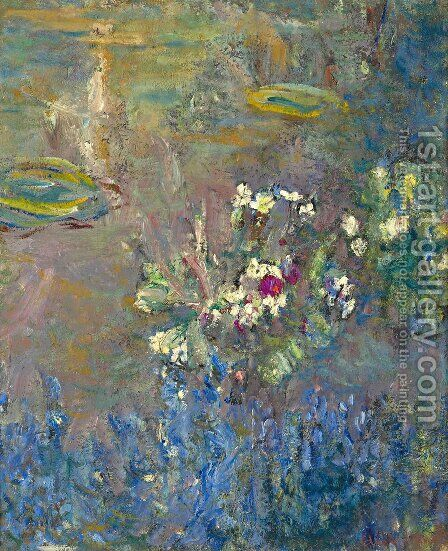 Les Nympheas by Claude Oscar Monet - Reproduction Oil Painting
