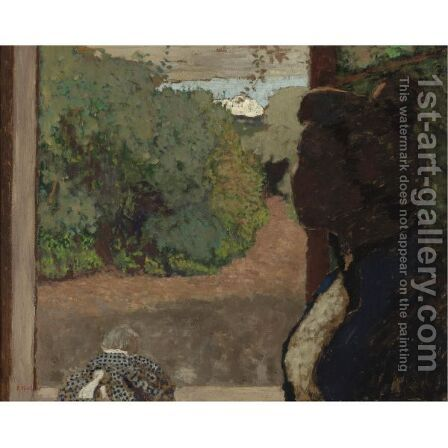 A La Fenetre by Edouard  (Jean-Edouard) Vuillard - Reproduction Oil Painting