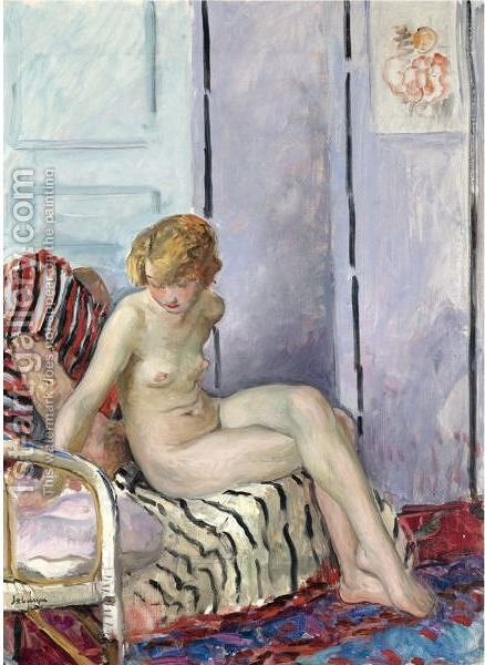 Nu Au Fauteuil 2 by Henri Lebasque - Reproduction Oil Painting