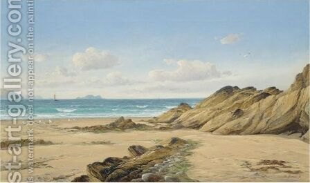 A Summer Day, Pembrokeshire Coast by David James - Reproduction Oil Painting