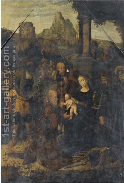 The Adoration Of The Magi 4 by Antwerp School - Reproduction Oil Painting