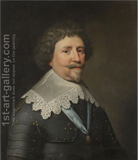 Portrait Of Frederick Hendrick, Prince Of Orange And Stadholder Of The United Provinces (1584-1647) by (after) Michiel Jansz. Van Mierevelt - Reproduction Oil Painting