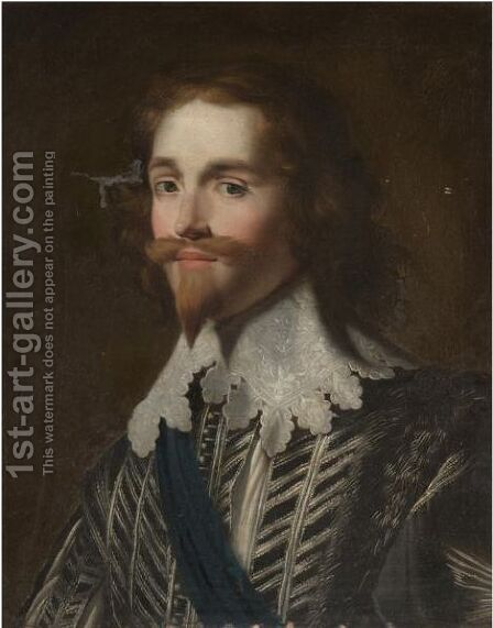 Portrait Of George Villiers, First Duke Of Buckingham (1592-1628) by (after) Honthorst, Gerrit van - Reproduction Oil Painting