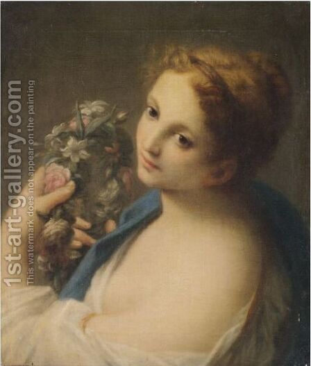 Flora by (after) Francesco Mancini - Reproduction Oil Painting