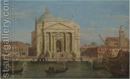 Venice, A View Of Il Redentore by (after) (Giovanni Antonio Canal) Canaletto - Reproduction Oil Painting