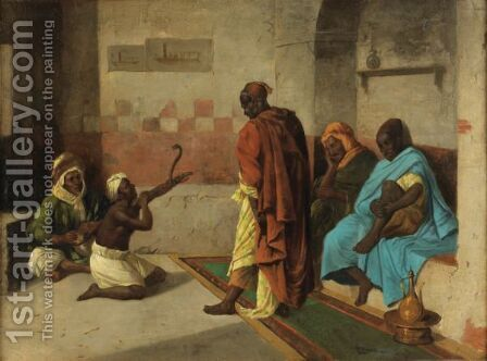 The Snake Charmer by Ecole Francaise, Xixeme Siecle - Reproduction Oil Painting