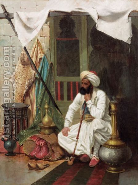 Dealer In The Souk by Ecole Francaise, Xixeme Siecle - Reproduction Oil Painting