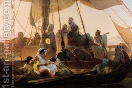 The Arrival Of The Captives by Anton Teichlein - Reproduction Oil Painting