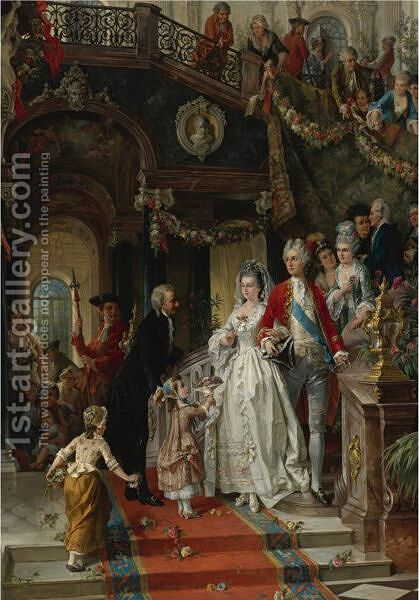 The Wedding Party by Carl Herpfer - Reproduction Oil Painting