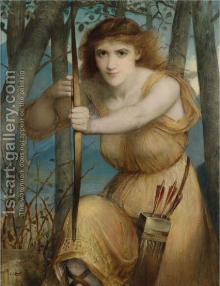 The Archer by Edward Charles Halle - Reproduction Oil Painting