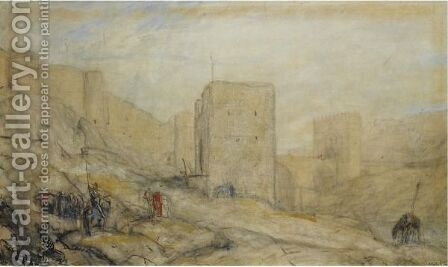 The Citadel In Toledo by Marius Bauer - Reproduction Oil Painting