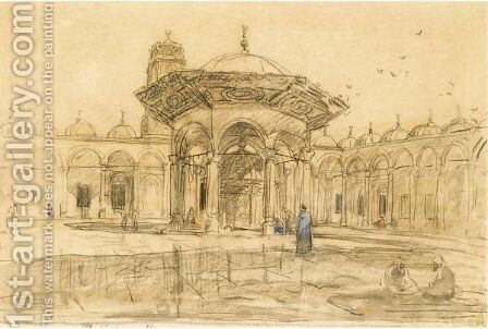 The Mosque Of Mohammed, Cairo by Marius Bauer - Reproduction Oil Painting