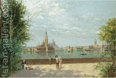 Venice From Public Gardens by Antonietta Brandeis - Reproduction Oil Painting