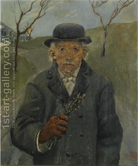 Onkel Joachim (Uncle Joachim) by Christian Krohg - Reproduction Oil Painting