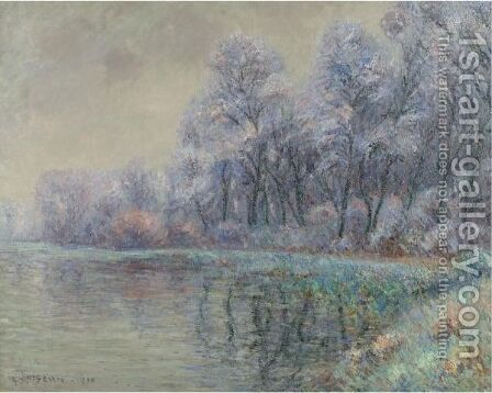 Le Givre by Gustave Loiseau - Reproduction Oil Painting