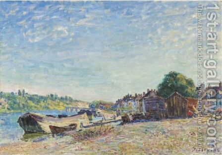 Les Bords Du Loing A Saint-Mammes by Alfred Sisley - Reproduction Oil Painting