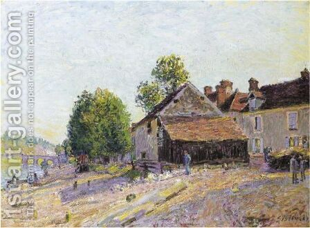 Paysage Pres De Moret by Alfred Sisley - Reproduction Oil Painting